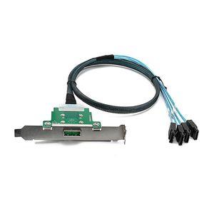 Image 5 - XT XINTE MINI SAS 26 دبوس SFF 8088 أنثى إلى 4 * SATA عكس كابل 6Gbps ل خادم مزامنة البيانات كابل بث 60 سنتيمتر
