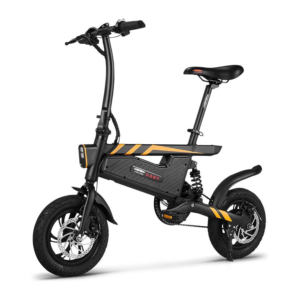 Электровелосипед 12 дюймов складной мощный электрический велосипед 250 Вт Мотор тормоза велосипед Складная ножная педаль электрический велосипед Открытый Велоспорт - 4