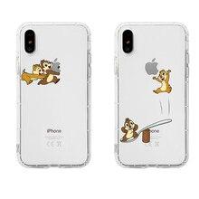 цена на Cartoon Chip 'n' Dale originality LOGO Phone Couple Case Soft TPU For iPhone 6 6s 7 8 Plus X XS XR XSMax 11 Pro Max