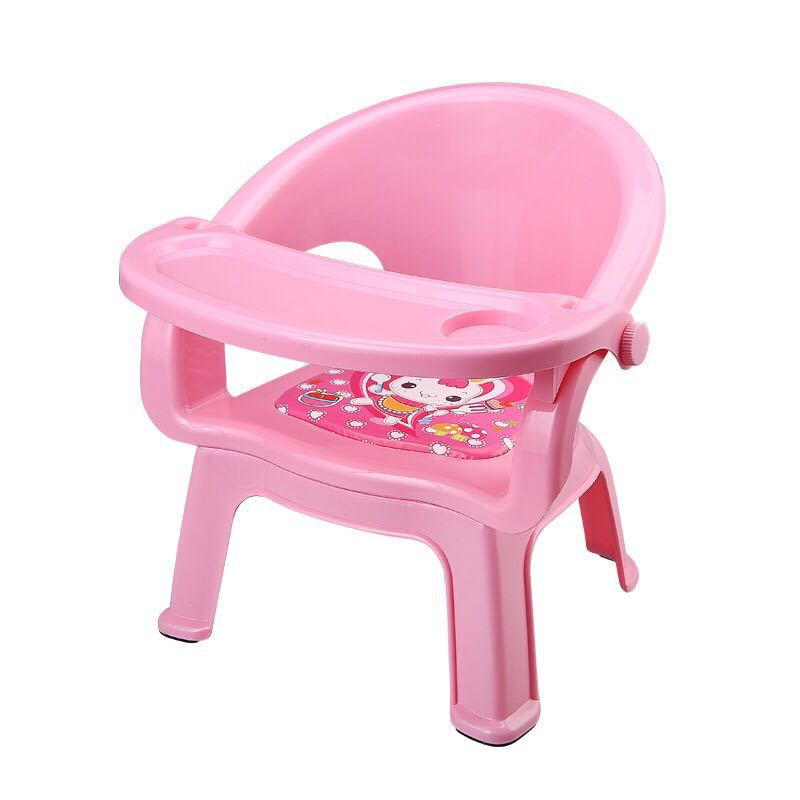 HEALLER Children Dining Chair Jiaojiao With Plate Baby Dining Table CHILDREN'S Chair Table Backrest Plastic Small Stool