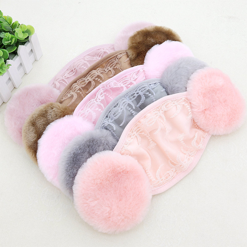 New Style Autumn And Winter Women's Face Mask Earmuff-in-Lace Face Mask Embroidered Fashion Warm Dustproof Manufacturers Direct