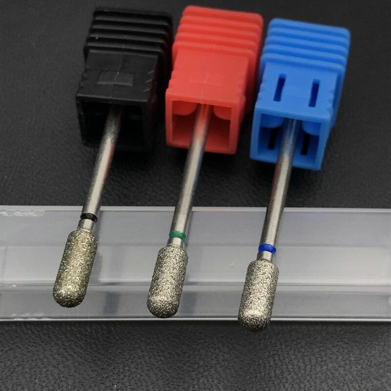 1Pc Cylindrical Diamond Nail Drill Bit 2.35mm Dental Burs Manicure Nail Drill Accessories Nail Mill