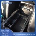 Для Toyota Camry 2012 2013 2014 2015 2016 2017 аксессуары центральный автомобильный подлокотник для хранения коробка авто контейнер перчатка Органайзер чехо...
