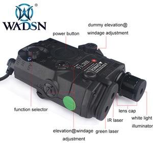 Image 3 - WADSN Airsoft Chiến Thuật Đèn Pin PEQ15 LA5 UHP Xuất Hiện Xanh/Hồng Ngoại Laser Có Đèn LED LA 5C Softair Chiến Thuật Peq LA5C WEX419
