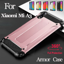 2019 Armor Case For Xiaomi Mi A3 Hard PC Shockproof MIA3 Back Cover xiaomi a3 Silicone Shell Glass + mi