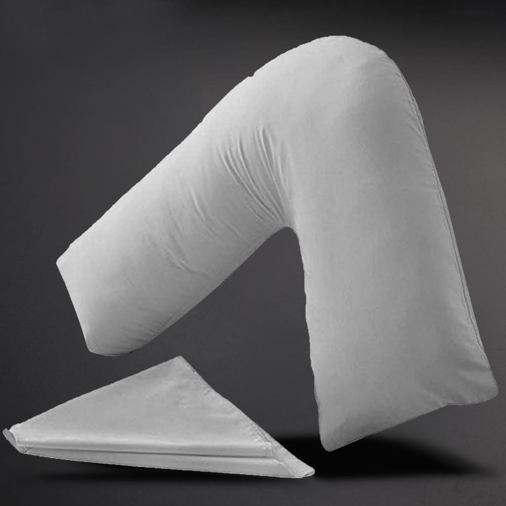 Nueva Funda de almohada en forma de V-Embarazo Maternidad Ortopédico Soporte de enfermería