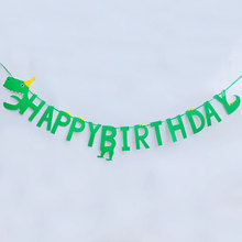 Cartoon Dinosaur Party Decoration Banner Happy Birthday Banner Kids Birthday Party Supplies Baby Birthday Bunting Garland Flags space banner party decoration baby shower birthday banner party supplies kids boy girl birthday decoration bunting garland flags