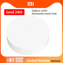 Xiaomi multimodo casa inteligente gateway 3 zigbee wifi bluetooth malha hub trabalho com mijia sensores apple homekit casa inteligente hub