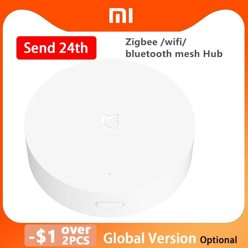 Шлюз Xiaomi ZigBee для умного дома, многорежимный сетевой хаб с поддержкой Wi-Fi и Bluetooth, работает с приложением Mijia Apple Homekit