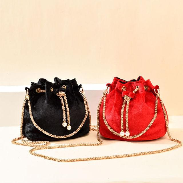 Luxury Velvet Large Capacity Bucket Bag 3