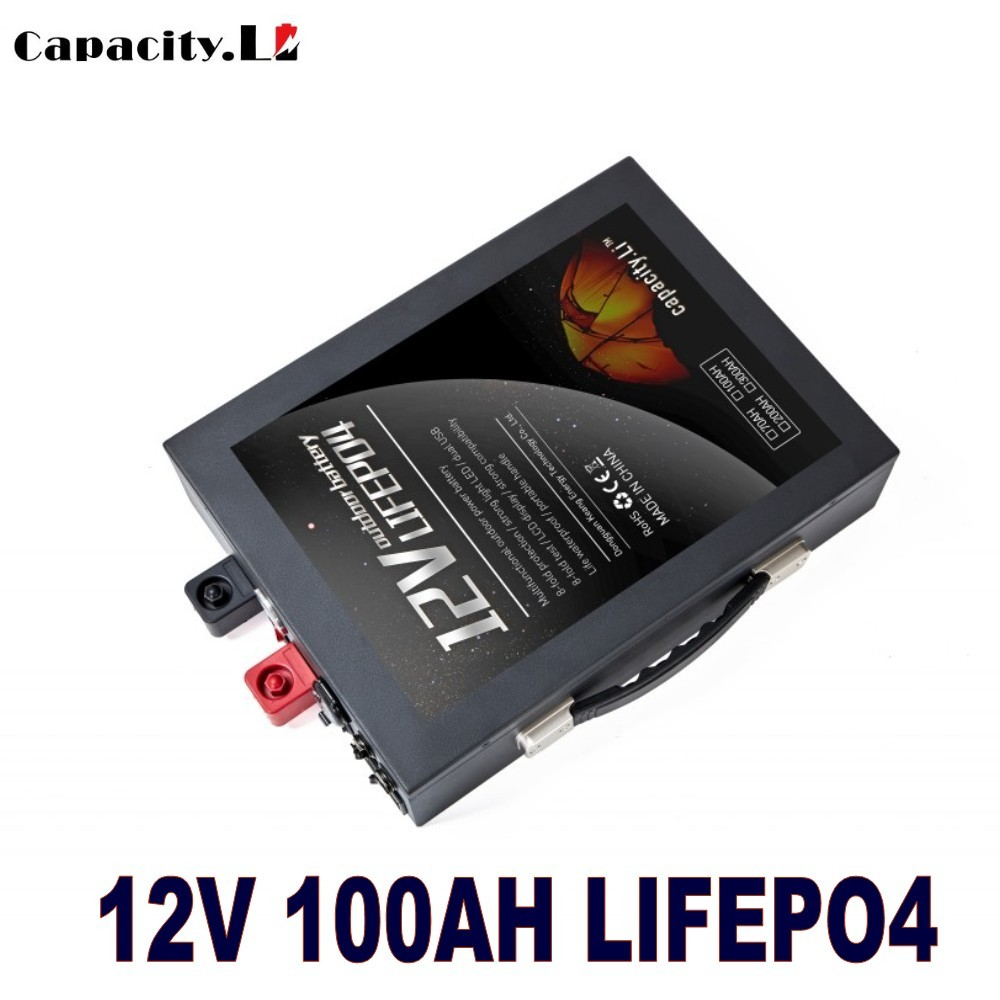 Capacity.Li 12V battery packs 40ah 70ah 100ah phosphate 12.8V lifepo4 with bms +charger For solar and engine and boat use(China)