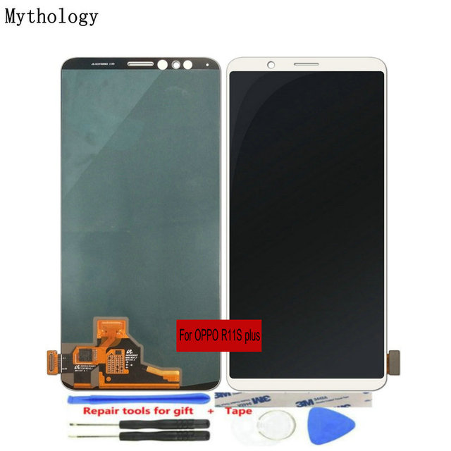 """For OPPO R11s Plus LCDs Touch Screen 6.43""""Display with Frame Assembly Replacement Mobile Phone Panels Repair Tools Mythology"""