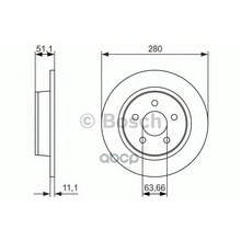Тормозной Диск Задний Bosch арт. 0986479762