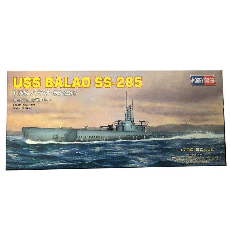1/700 America Navy White Fish Submarine USSS BALAO SS-285 Model