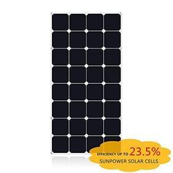 2019 latest fashion top design sunpower flexible solar panel mono solar cell battery charger 100w