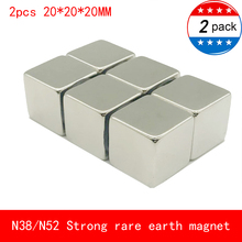2PCS cube 20x20x20mm N52 Super Strong Rare Earth Magnet Permanent N38 Magnets 20*20*20MM
