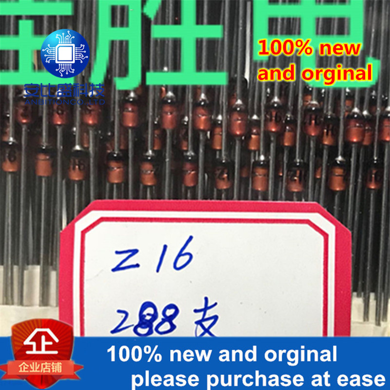 50pcs 100% New And Orginal 1N4745 1W16V DO41 Silk-screen Z16 In Stock