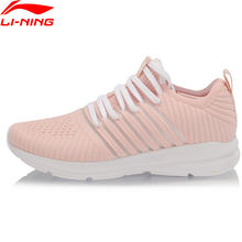 Li-ning mulher reator almofada tênis de corrida respirável mono fio forro conforto li ning sapatos esportivos tênis arhp058