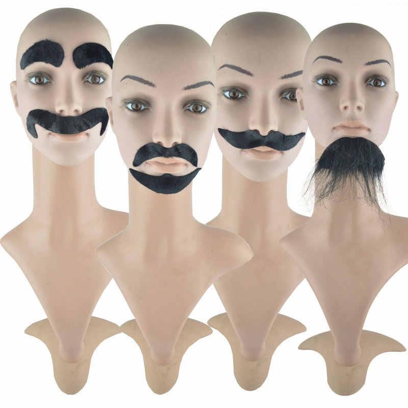 Maquillaje Prom Props Festival Fiesta vestido falso barba imitación barba ocho caracteres barba hombre barba barba fiesta suministros