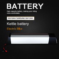 36V10A Electric Bike Kettle Battery Lithium Battery Bateria 10A Samsung 12AH Ebike Battery for Electric Bicycle with Bike Casing