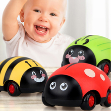 Kids Cute Pull Back Toy Car Inertia Trolley Insect Return Cars Ladybug Insect Model for Baby Educational Toys Christmas Gift недорого