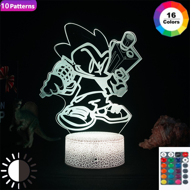 Games Friday Night Funkin Lamp Figure Gaming Setup Pico Room Decor Night Light Kids Gift Gamer Anime Hologram Teenager Bedroom 1