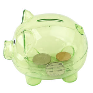 Toy Money-Box Coins Piggy-Bank Plastic Kawaii Case Baby-Toy Gift Pig-Shaped Transparent