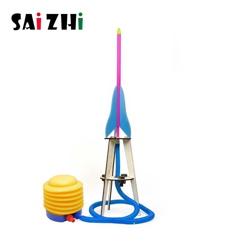 Saizhi bricolage tige jouets pour enfants physique scientifique expérience créativité apprentissage éducatif jouet Kit bricolage Air fusée cadeau