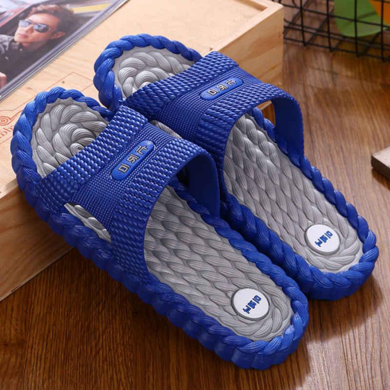 DAOKFPO Hot Beach รองเท้ารองเท้าแตะชายรองเท้าแตะฤดูร้อนกลางแจ้ง Flip Flops รองเท้า Non-SLIP Bathroom รองเท้าแตะนวด t-06