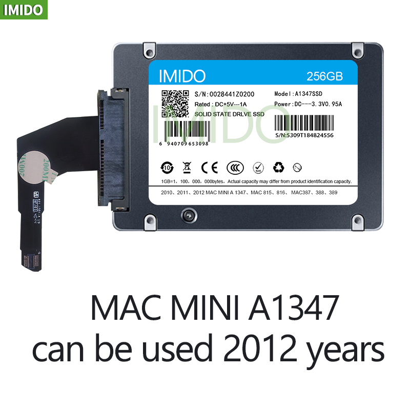 New 128GB 256GB 512GB 1TB 2TB SSD for Mac 2012 Mini A1347 with SSD plus converter plus tool Add a second solid state drive ssd 2