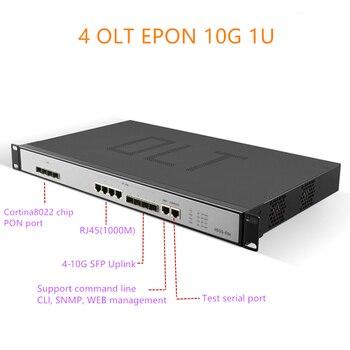 4port EPON OLT 1.25G uplink 10G 4port  E04 1U EPON OLT 4 Port For Triple-Play olt epon 4 pon 1.25G SFP port PX20+ PX20++ PX20+++ 1