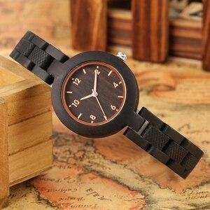 Image 3 - Relógios femininos de madeira simples reloj mujer miyota movimento de quartzo fino pulseira de madeira completa senhoras relógio de pulso personalizado presentes superiores