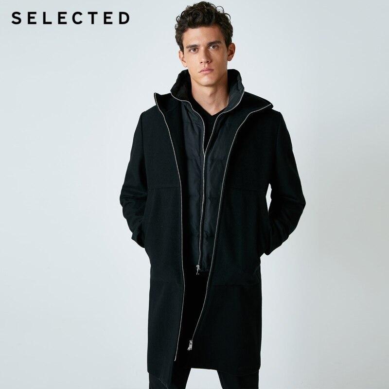 SELECTED Men's Two-piece Set Wool Jacket & Gray Duck Down Winter Down Jacket Coat Men's Clothes | 418427503