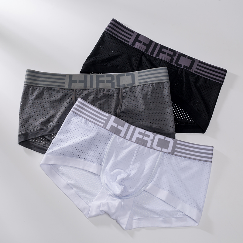 4ps HIRO Breathable Man Boxer Solid Underpants  Boxer  Underwear Men Boxer  Cotton Boxer Shorts  Gay