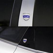 Metal emblema XC90 XC60 para Volvo XC90 XC60 XC70 XC40 S90 V90 S80L S70 S60 Volvo pegatina lateral de coche adhesivo para maletero Winddow etiqueta engomada