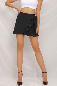 2021 letnia falbankowa spódnica Fashion Sexy Casual krótka spódniczka damska wysoka talia Solid Color plisowana Mini spódniczka dziewczyna seksowna krótka spódniczka tanie i dobre opinie yang fa suknia balowa POLIESTER mankiety CN (pochodzenie) Obniżona Stałe Powyżej kolana mini Dla osób w wieku 18-35 lat