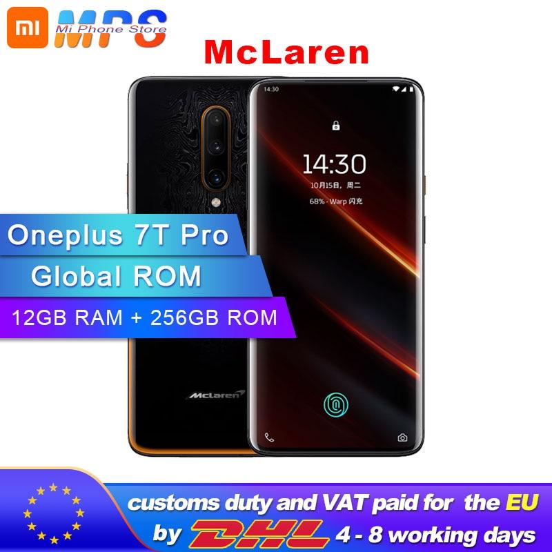 Global ROM Original nouveau Oneplus 7T Pro Mclaren Smartphone 12 go RAM 256 go ROM Snapdragon 855 Plus 6.67 ''90Hz écran Android 10