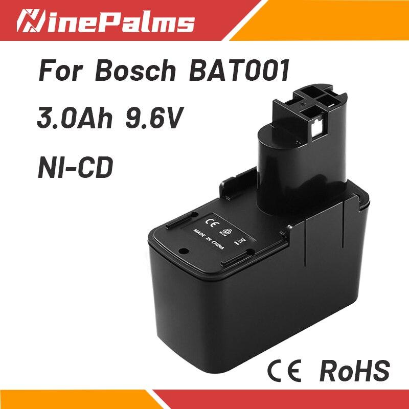 NinePalms NI-CD Перезаряжаемые батарея 9,6 V 3Ah подходит для Bosch 9,6 VE PSR PSB 9,6 GSR 2607335072 BAT001