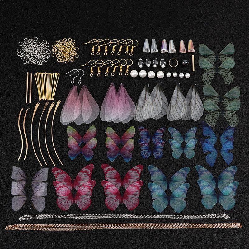 Ручная работа, большой пакет красивых сказочных Стрекоза бабочки крыло серьги в виде цикады из крыло очаровательные ювелирные серьги решен...