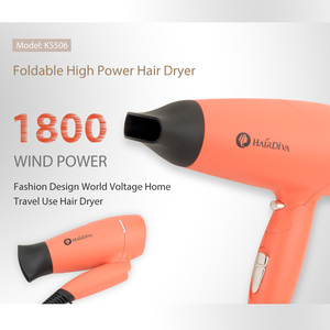 Image 2 - Foldable 1800W High Power Hair Dryer Portable Traveller Blower In Corel Red Hair Dryer and Volumizer HairDiva Secador De Cabelo