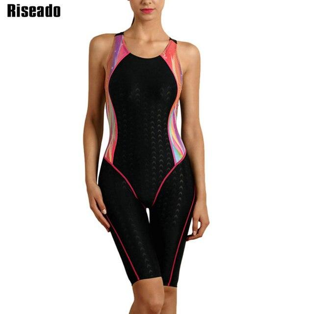 Riseado Sport 2019 Bademode Frauen Ein Stück Badeanzug Schwimmen Anzug für Frauen Boyleg Schwimmen Tragen Racer Zurück Badeanzüge