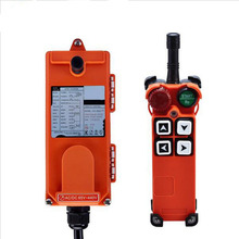 Original TELECRANE Wireless Industrial Remote Controller Electric Hoist Remote Control 1 Transmitter + 1 Receiver F21-4S two speed four direction crane industrial wireless remote control transmitter 1 receiver f21 4d ac110 sensor motion livolo