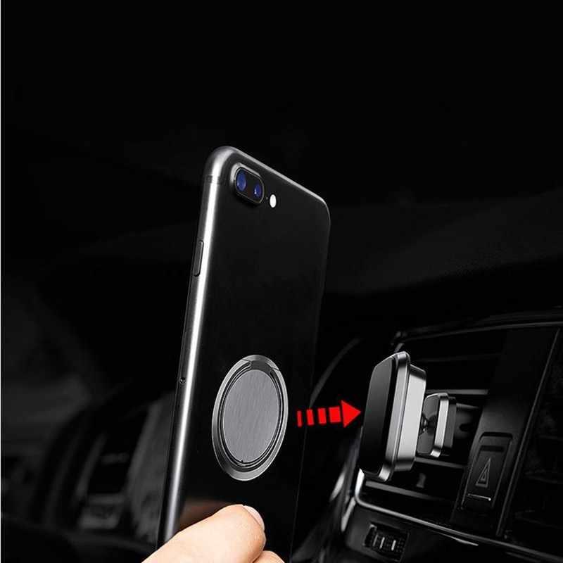 Ultra-dünne metall Stent Zubehör Handy Halter Stehen Fingerring Magnet Für iphone 8 7 6 xiaomi mi8 5 plus Smartphones