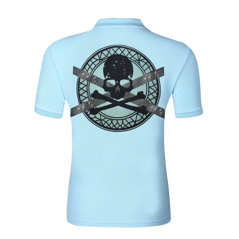 Star sacs pp crâne logo couleur diamant 2020 été mode hommes cool jeu sur punk manches courtes col rond T-shirt pur coton
