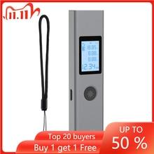 Mini el 40M akıllı dijital lazer mesafe ölçer mesafe telemetre taşınabilir USB şarj mesafe ölçüm ölçer