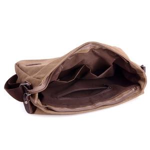 Image 5 - Винтажный холщовый портфель, мужская деловая офисная сумка через плечо, повседневная Наплечная Сумка конверт, Мужская Наплечная Сумка в стиле ретро, 2019