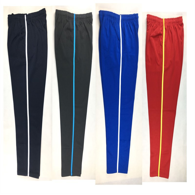 Summer Men Casual Sweatpants Men Jogger Basic Trousers Tracksuit Side Stripe Slim Thin Breathable Sportswear Track Pants