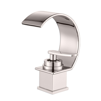 Basin Faucets Bath Basin Mixer Faucet Creative Waterfall Water Outlet Bathroom Vessel Sink Mixer Taps Hot and Cold Water Mixer 7