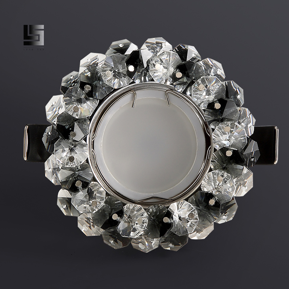 Image 4 - Decorative color crystal LED downlight ceiling spotlight gu10 natural white and warm white corridor hallway indoor lighting-in LED Downlights from Lights & Lighting