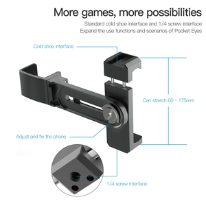 Image 4 - Phone Holder Clamp for Fimi Palm Accessories Built in 1/4 Screw Hole with Tripod Extension Rod Flash Holder Mount Bracket
